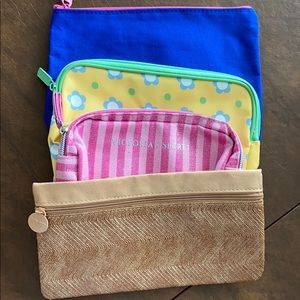 Assorted makeup pouches